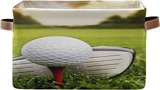 ALarge Panier de rangement pour balles de golf, club, panier à linge pliable avec poignées pour la maison, le bureau, la c...
