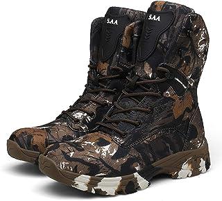 MATMDL Bottes de chasse pour hommes de randonnée patrouille imperméables bottes tactiques bottes en caoutchouc