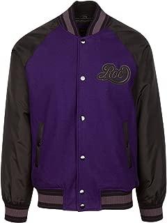 1159R Purple Mens Varsity Jacket