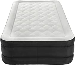 Instant Inflatable Bed, Black Color, Poly-Vinyl, Twin-Size, Portable, Satchel and Repair Kit Included, in-Built Air Pump, Enhanced Comfort, Anti-Slip, Easy Storage, Multipurpose, Durable & E-Book.