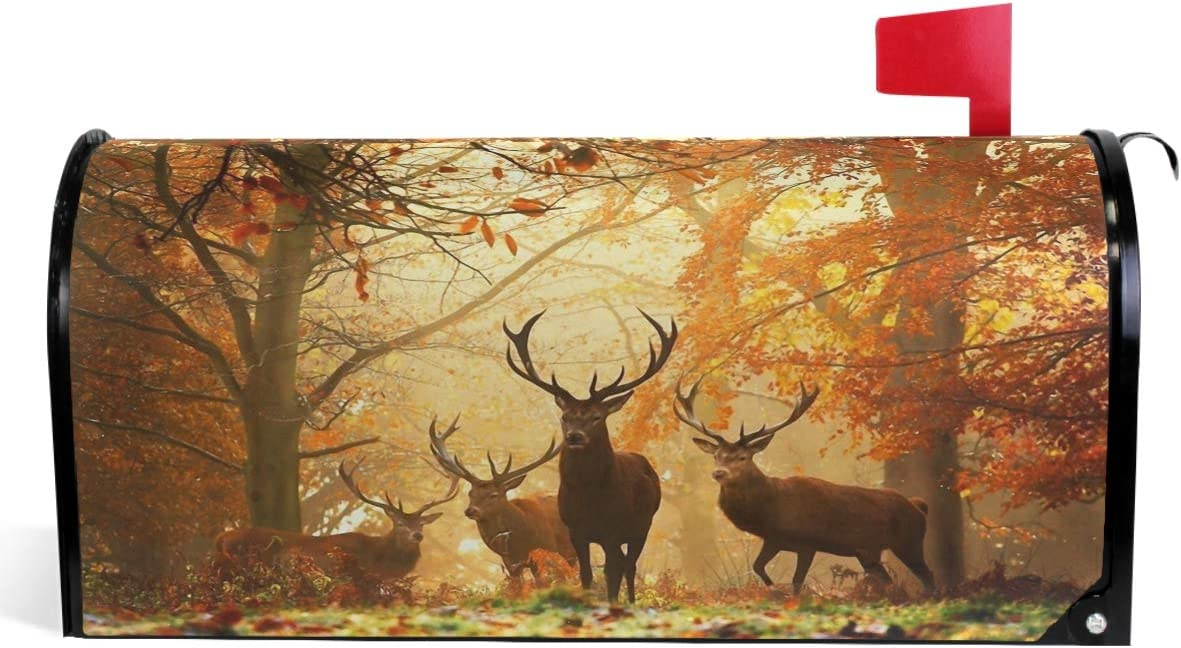 Wamika Deers Fall Mailbox Forest Autumn ! Super beauty product restock quality top! Covers 1 year warranty Magnetic