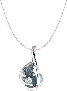 Alexandrite Pendants | Designed by Ellen Natural Color Changing Alexandrite Diamond Pendants in 14k Gold