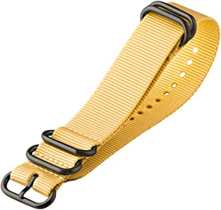 Clockwork Synergy - XL 5 Ring Heavy NATO PVD Black Watch Strap Bands