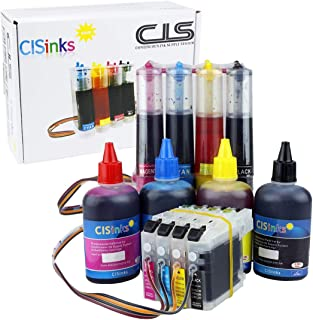 CISinks Continuous Ink Supply System with Refill Ink Bottle Set for Brother LC203 LC205 MFC J4320DW J4420DW J4620DW J5520DW J5620DW J5720DW J460DW J480DW J485DW J680DW J880DW J885DW