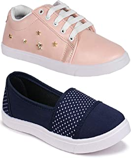 Shoefly Women Multicolour Latest Collection Sneakers Shoes- Pack of 2 (Combo-(2)-11031-766)