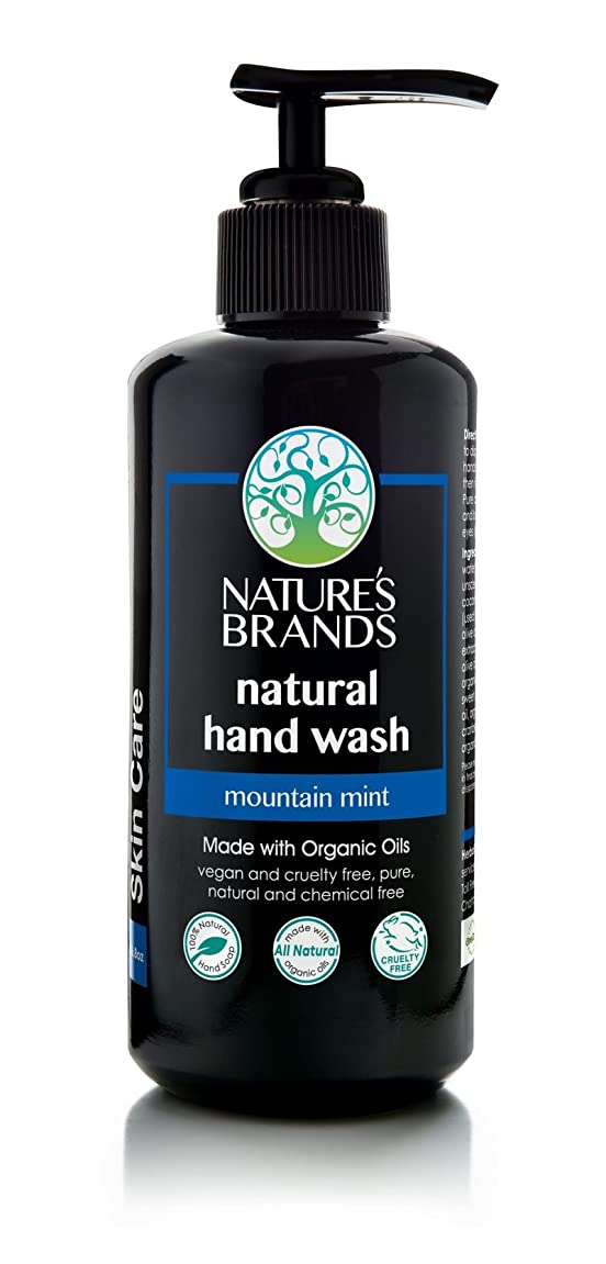 Herbal Choice Mari Natural Hand Wash, Mountain Mint; 6.8floz UV Glass, Made with Organic wi957149439511