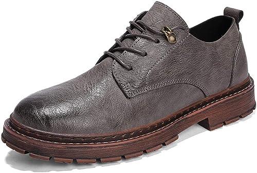 JIALUN-des Chaussures Simple Mode Oxford Décontracté Simple Simple Chaussures Ultra-Confortables et Confortables à Lacets pour Hommes (Couleur   gris, Taille   43 EU)  tout en haute qualité et prix bas