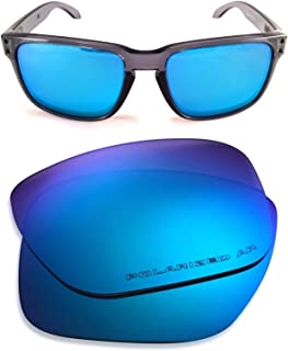 Oakley Holbrook Replacement Lenses (Dark Ice Blue) - Polarized, 1.4 mm Thick, AR Coated, Added UV Protection, Fits Perfectly, for Men & Women