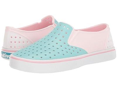 Native Kids Shoes Miles Block (Little Kid) (Blossom Pink/Hydrangea Blue/Shell White/Shell Block) Girl