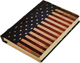 Journal 5x7 - American Flag Journal - Unruled & Unlined Unique Daily Writing Journal - Notebook for Men & Women - Eco Friendly /Travel Dairy / Minimalist / Productivity Planner - Best Gift For Writers
