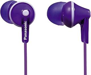 Panasonic RP-HJE125E-V Auriculares Boton con Cable In-Ear (Headphone Sonido Estéreo para Móvil, MP3/MP4, Diseño de Ajuste Cómodo, Imán Neodimio 9mm, Presión de sonido de 97 dB) Color Violeta