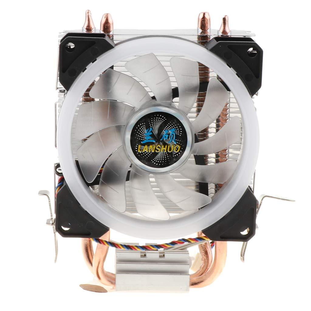 Almencla Ventilador De 4 Líneas con Ventilador De CPU De Luz para ...