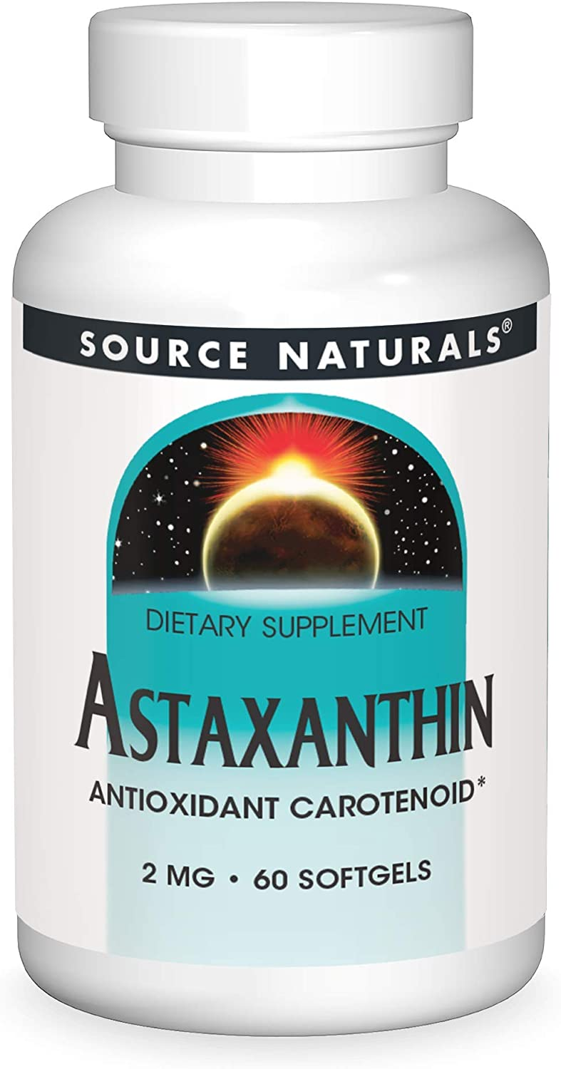 SOURCE NATURALS Special sale item Astaxanthin 2 Mg Count Omaha Mall Gel Soft 60