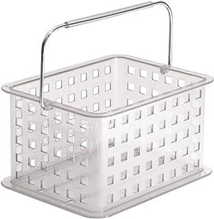 InterDesign Zia panier de rangement, petit panier salle de bain en plastique, corbeille de rangement pour accessoires de d...