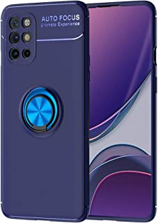 TingYR Case for OnePlus 8T, Ring Buckle Bracket, Soft TPU, Car Magnet Piece, Phone Case for OnePlus 8T.(Blue)