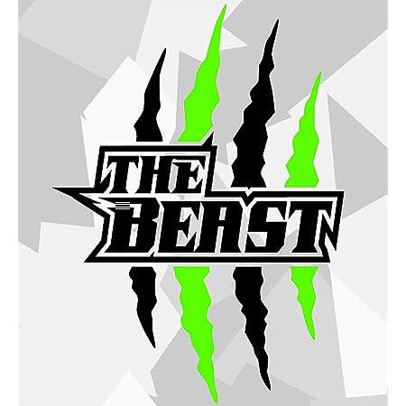 Beast 20 X 6 Cm In 15 Farben Neon Chrom Sticker Aufkleber Auto