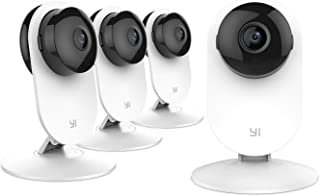 YI 4 Pieces Home Camera, Wi-Fi IP Security Surveillance System with Night Vision for Home, Office, Shop, Baby, Pet Monitor...