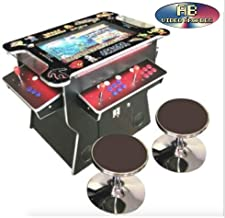 ABINCVIDEO Black Classic Huge 22 Inch Screen Full Size Commercial Grade Cocktail Arcade Machine 3500 Classic Games 2 Stools 3 Year Warranty Screen LED Trim Stools Included 22029CL