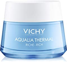 Vichy Aqualia Thermal Rich Face Cream Moisturizer for Dry Skin with 97% Natural Origin Hyaluronic Acid, Dermatologists Recommend to Hydrate & Moisturize, Mineral Oil & Paraben-Free