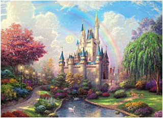 JCCOZ-URG Toy Decorative Painting Jigsaw Puzzle - Fantasy Castle- Every Piece is Unique, Pieces Fit Together Perfectly (30...