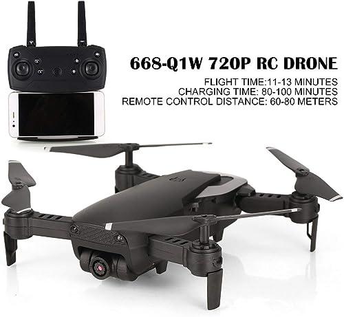 WOSOSYEYO 668-Q1W 720P Faltbare RC Drone RC Quadcopter mit HD-Kamera Altitude Hold Hubschrauber Luftbild Live-übertragung Video (Farbe  Weiß)