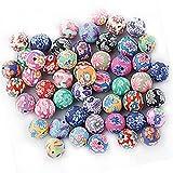 Baosity Set de 50Polymer Clay Beads Spacer perlas entre perlas Manualidades perlas Bolas para DIY Joyas pulsera collar artesanía