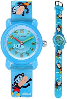 Eleoption Waterproof Kids Watch for Girls Boys Time Machine Analog Watch Toddlers Watch 3D Cute Cartoon Silicone Wristwatch Time Teacher for Little Kids Boys Girls Birthday Gift Toys