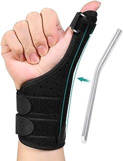 Órtesis Neopreno Para Pulgar, Muñequera ajustable para la mano izquierda o derecha, ligera y transpirable para esguinces, esguinces, artritis, tendinitis para mujeres y hombres