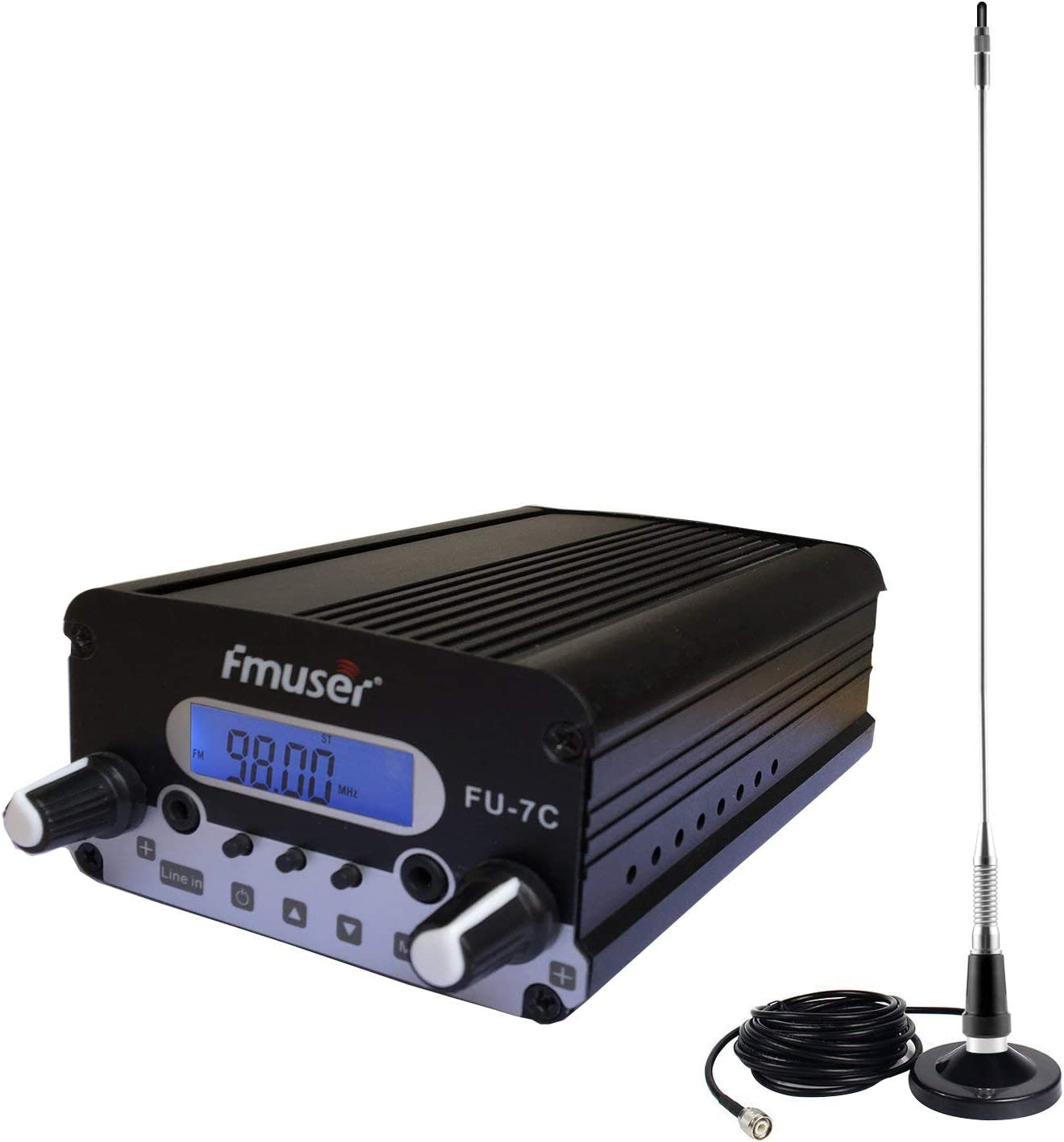 FMUSER FU-7C 1 W/7 W Transmisor FM estéreo Mini Radio ...