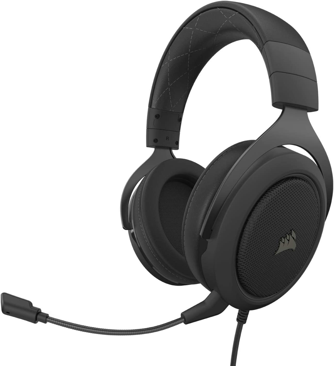 Corsair HS60 PRO - 7.1 Virtual Surround Sound Gaming Headset with USB DAC - Works with PC, Xbox Series X, Xbox Series S, Xbox One, PS5, PS4, and Nintendo Switch - Carbon (CA-9011213-NA): Computers & Accessories