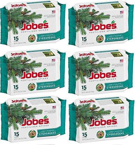 Jobes 01611 15 Pack Evergreen Tree Fertilizer Spikes - Quantity 6 Packages
