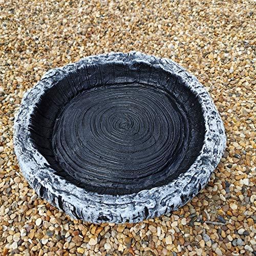 Garden Ornaments & Accessories Small Round Log Effect Ground Bird Bath or...