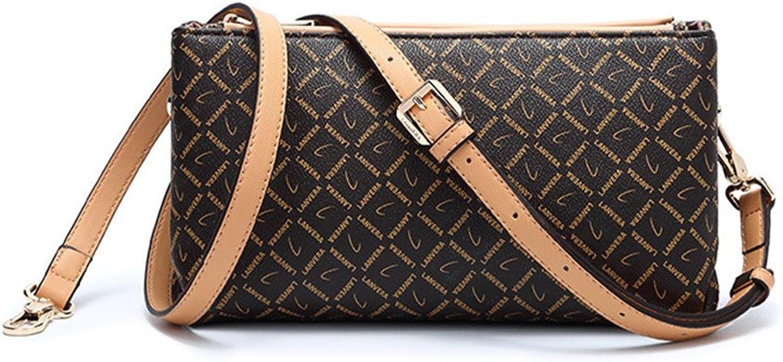 CIFFOST Crossbody Shoulder Bag for Women Quilted Purse,Small Messenger Bag,Handbag,Retro Printing Shoulder Bags