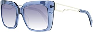 JC792S 55B Transparent Blue Square Sunglasses for Womens
