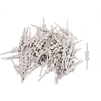 100Pcs Silver Tone 32mm Length Chandelier Connector Clip for Fastening Crystal
