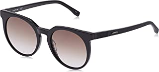 Lacoste Round Casual Elegance Black Sunglasses For Women 54-20-140mm