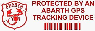 5 x PPAbarthGPS Fensteraufkleber über GPS Verfolgung (mit Schriftzug in englischer Sprache), für Auto/Lieferwagen, 87 x 30 mm, 5 Stück, rot