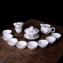 FACAIA Ceramiczny kubek do herbaty z przykryciem kreatywny matowy biały porcelanowy zestaw herbaty jako prezent biznesowy ...