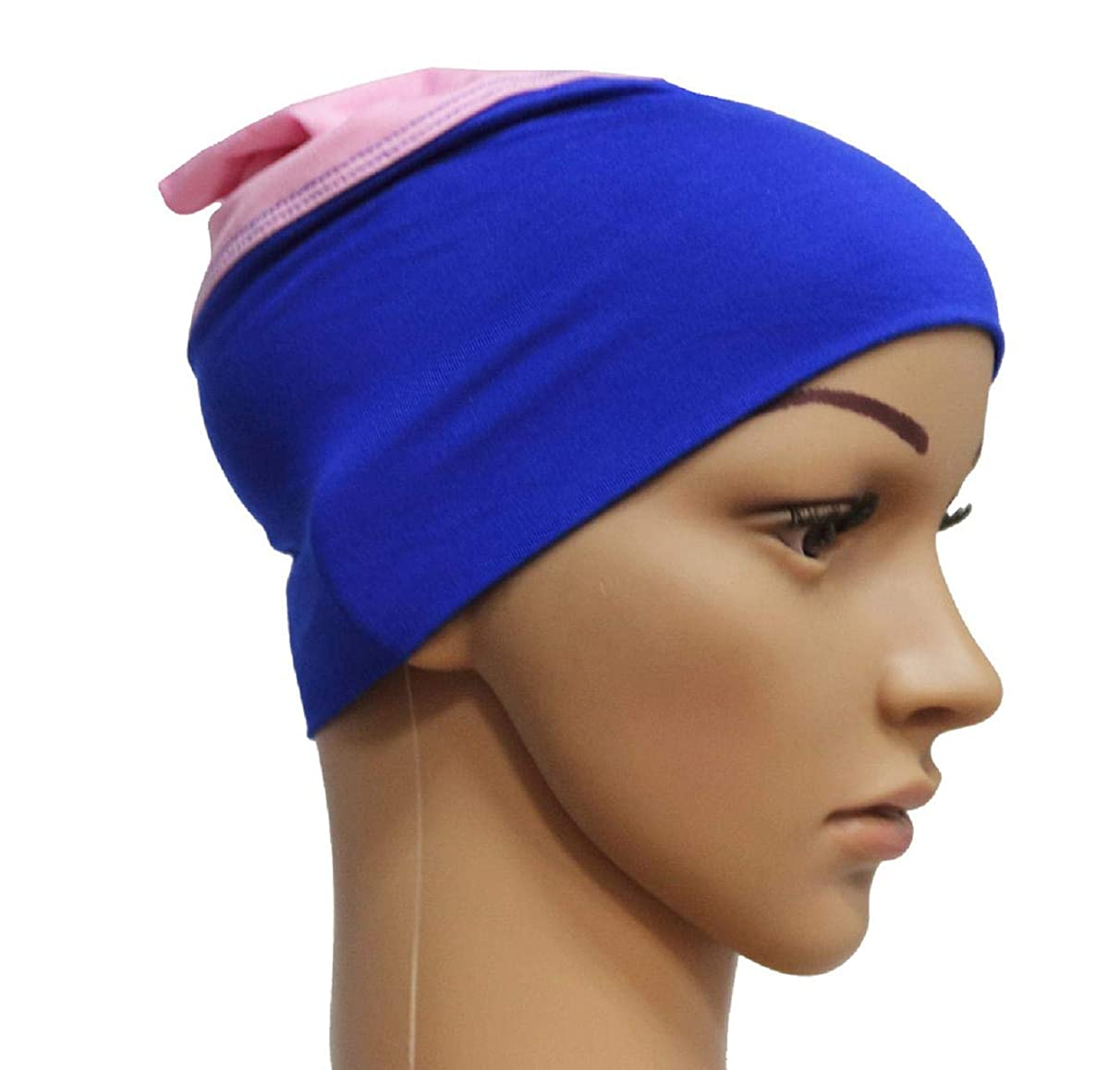 Barlingrock Women Winter Warm Caps, 2 in 1 Women Muslim Stretchy Anti Hair Loss Turban Wrap Scarf Hats for Dancing, Casual, Daily, Christmas Day Wedding Banquet Tea Cocktail Party