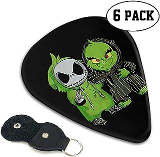 Jack The Skeleton Grinch We Are Best Friend ジャック・スケリントン ギターピック オシャレ ベース、カポタスト ギター、カポ アコースティックギター、ウクレレ、エレキギター用 ピック トライアングル ...
