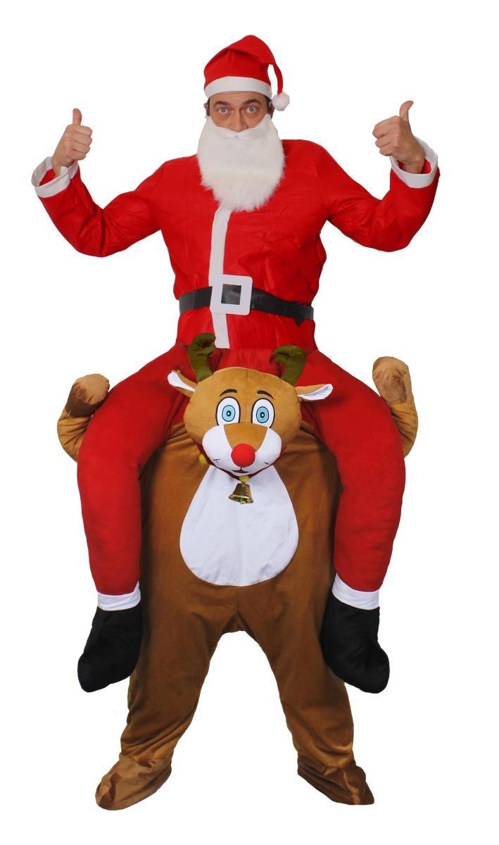 Disfraz de Papá Noel sobre los hombros de sonido reno para adulto ...
