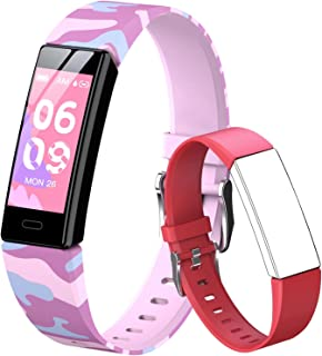 QOOGOT Fitness Tracker for Kids Girls Boys 6+, Waterproof Activity Tracker with Heart Rate Sleep Monitor,11 Sport Modes Wa...