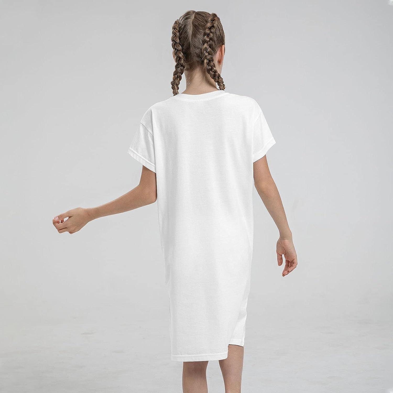 Cool Flamingo and Unicorn Summer Girls Dress Casual Cotton Sleeveless Skirt Dresses for Girls Kids 7-12 Years