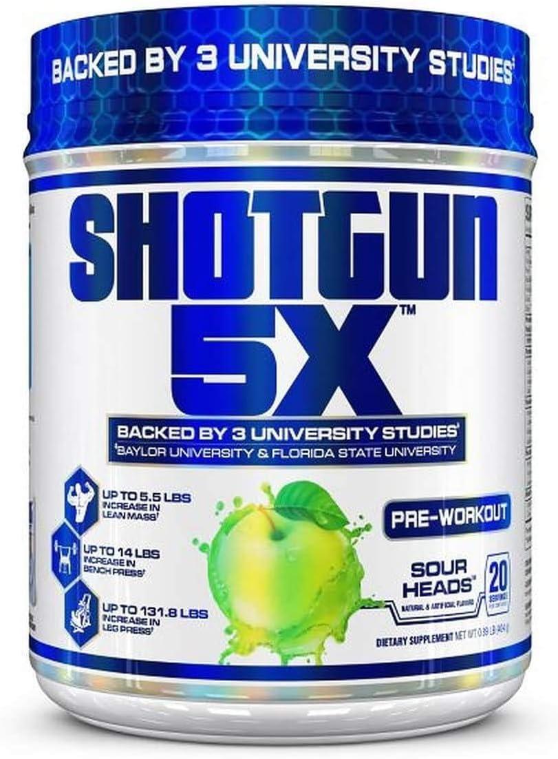 VPX Shotgun 5X ご予約品 Pre Workout Supplement for -Preworkout Men <セール&特集> Energy