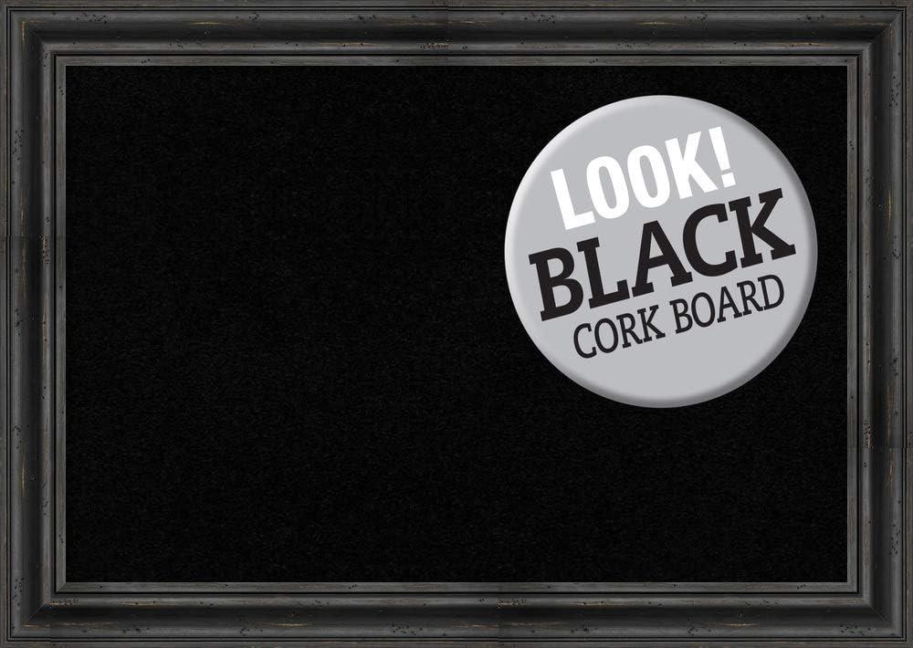 Framed Black 期間限定今なら送料無料 Cork Board Bulletin Boards Rusti 直送商品