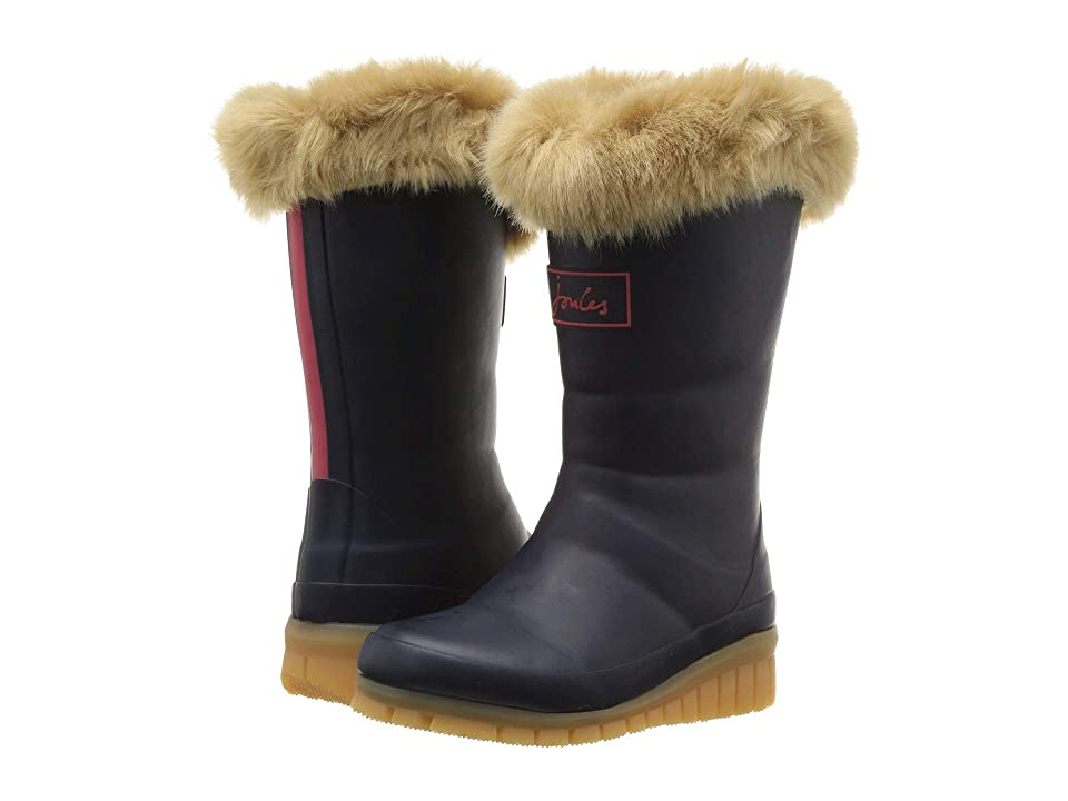 Joules Kids Downtown Tall Padded Winter Welly Boot (Toddler/Little Kid/Big Kid) (French Navy) Girls Shoes