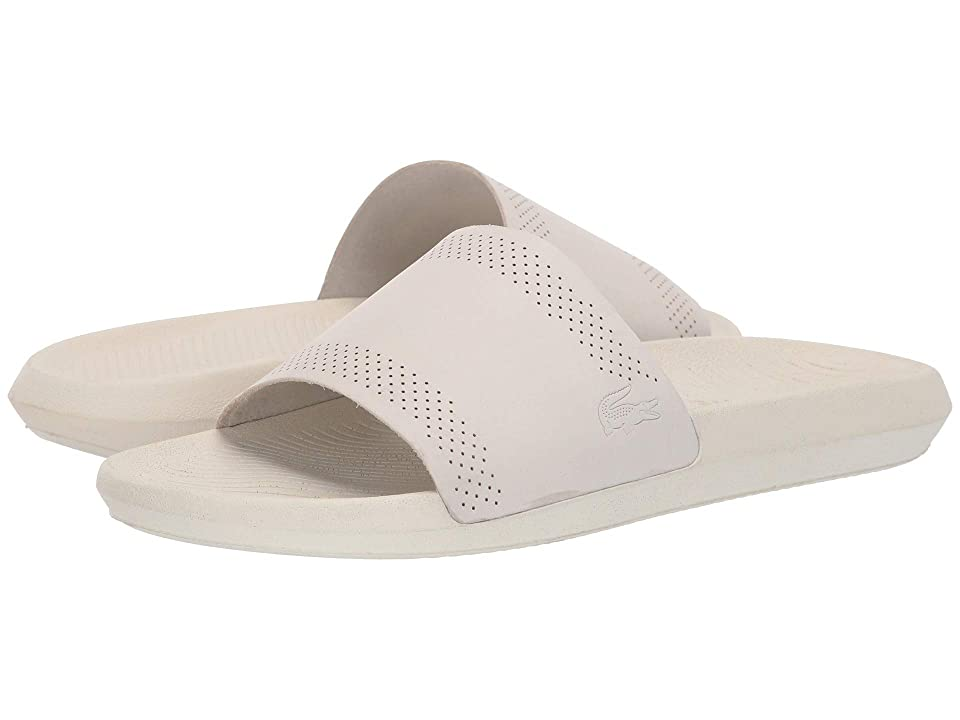 Lacoste Croco Slide 119 5 (Off-White/Off-White) Men