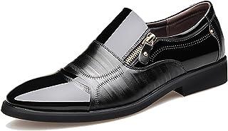 [ロムリゲン] ビジネスシューズ 紳士靴 革靴 メンズ スーパーファイバーレザー 通気性 蒸れない 防滑 通気性 軽量 柔らかい