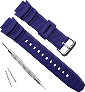 Waterproof Natural Resin Replacement Watch Band for Casio AQ- S800W SGW-300H MRW-200H AE-1200 W-800H W-735H