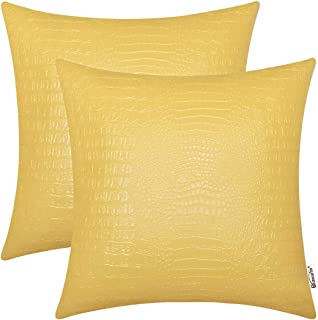 Leather Pillow Square 22 Inches Bedding Home Kitchen